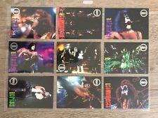 KISS 9 cartes trading card 1998 cornestone U1-U9 poster series 2