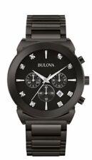 Bulova 98D123 Men's Chronograph Black Stainless Steel Quartz Diamond Watch