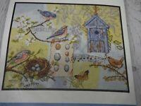 Nesting Story Counted Cross Stitch Kit by Bucilla Birds Butterflies Nest SS03