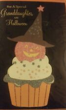 NEW GRANDDAUGHTER HAPPY HALLOWEEN CARD WITH ENVELOPE