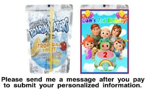 12 Cocomelon Birthday Party Capri Sun Juice Pouch Stickers Labels Wrappers
