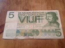 5 Nederland Gulden Banknote dated 26/4/66