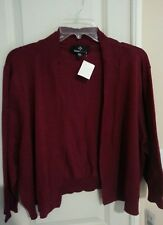 Ronni Nicole Wine Open Cardigan Sweater Plus Size 2X ~ Shrug NWT
