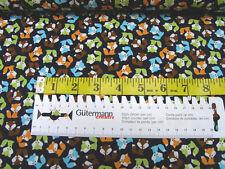 Robert Kaufman • Urban Zoologie mini • Fox bermuda • Baumwoll Stoff • 0,5m