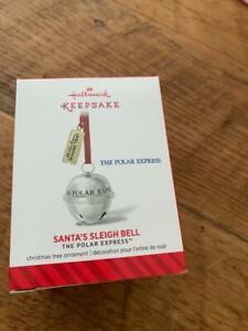 Hallmark Keepsake Ornament 2014 Santa's Sleigh Bell The Polar Express Ticket