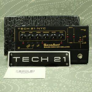 TECH21 SansAmp Bass Driver Deluxe With Original Box Guitar effect pedal (376021)