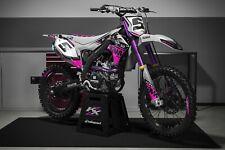 Kit De Gráficos MX rebote para caber Kawasaki KX KXF 65 85 125 250 450 todos los años Rosa