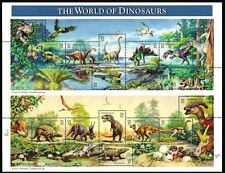 1997- WORLD OF DINOSAURS - #3136 Full Mint -MNH- Sheet of 15 Postage Stamps