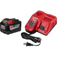 Milwaukee 48-59-1890 RedLithium High Demand 9.0 Battery Pack & Charger M18 Tools