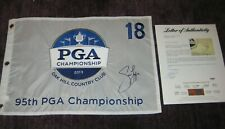 JASON DUFNER Signed 2013 PGA CHAMPIONSHIP Embroidered Pin Flag w/ PSA LOA