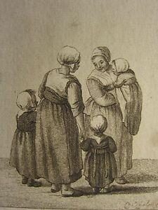 1793 ANTIQUE ETCHING PRINT CHRISTINA CHALON - Pieter de Mare - DUTCH