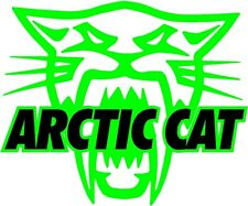 "ARCTIC CAT 6"" DECAL Snowmobile Sticker XF ZR Sno Pro Crosstrek Black on Green"