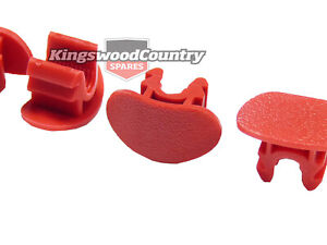 Holden Commodore RED Door Lock Knob Retainer Snib Clip VT VX VY VZ WH x4 trim