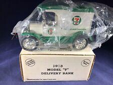 G1-26 ERTL 1:38 SCALE DIE CAST BANK - 1913 FORD MODEL T - NIB - 7-ELEVEN