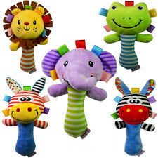 TOYMYTOY Music Infant Rattle Hand Development Plush Toy BB Sound Toy for Toddler
