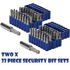 2 x SECURITY BIT SETS 33PCE 25 MM SCREWDRIVER SCREW DRIVER TAMPER PROOF P104