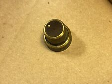 """Beautiful Vintage 1950s Fisher 1"""" Stacked Knob Brown/Brass Triangle Pointer"""
