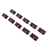 10pcs Audio Amplifier Terminal Loudspeaker Spring Clip Speaker Terminal 2way