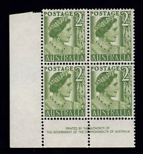 1951 KING GEORGE VI 2d IMPRINT COIL BLOCK 4 PRE-DECIMAL STAMPS FRESH MUH #G3