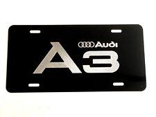 AUDI Q3 Aluminum Carbonfiber Metal look Car Auto License Plate Tag Abstract Blue
