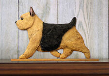Norwich Terrier Dog Figurine Sign Plaque Display Wall Decoration Black &Tan