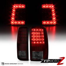 [DARK CHERRY RED] 2000-2006 GMC Yukon XL Tahoe Suburban C-Shape LED Tail Lights