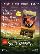 SHADOWLANDS__Original 1994 Trade print AD promo__ANTHONY HOPKINS__DEBRA WINGER