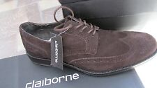 NEW CLAIBORNE BROWN SUEDE OXFORD SHOES MENS 9 STYLE: GAYLORD