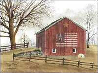 Art Print, Framed or Plaque by Billy Jacobs - Flag Barn - BJ112