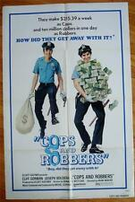COPS & ROBBERS Orig Movie Poster 1973 FOLDED One Sheet 1SH Police rob bank!