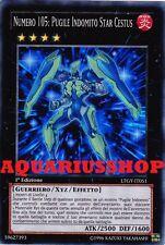 Yu-Gi-Oh! Numero 105 Pugile Indomito Star Cestus LTGY-IT051 Super Rara ITA Zexal