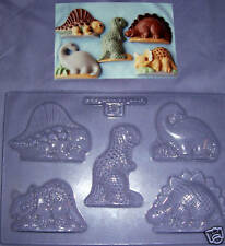 FIVE COMICAL DINOSAURS CHOCOLATE MOULD OR PLASTER MOULD