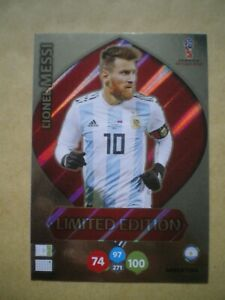 LIONEL MESSI LIMITED EDITION CARD, PANINI XL ADRENALYN WORLD CUP RUSSIA 2018,