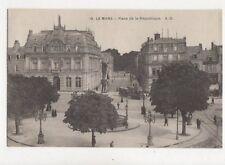 Le Mans Place De La Republique France Vintage Postcard 796a