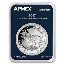 2017 Somalia 1 oz Silver Elephant (MintDirect® Single) - SKU #101904