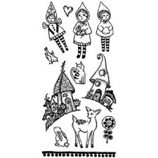 Stampington & Co Storybook Village Collection Cottage Cling Rubber Stamp #G1504