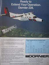 4/1982 PUB DORNIER 228-200 AIRCRAFT ILA HANOVER AIR SHOW FLUGZEUG ORIGINAL AD