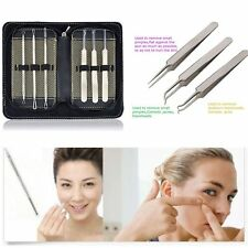 Remover Blackhead Tool Bend Curved Tweezers Pimple Extractor Acne Needle