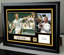 """Rod Laver Framed Canvas Signed Tribute """" Great Gift """""""