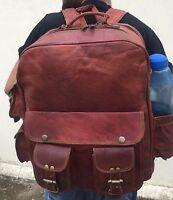 Men's Leather Laptop Vintage Backpack Shoulder Messenger Bag Rucksack Sling Bag
