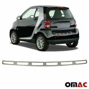 Fits Smart ForTwo 2008-2015 Chrome Rear Bumper Guard Trunk Sill Cover S.Steel