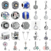 925 NEW sterling European Silver Charms Bead For Chain Bracelet Necklace ice9