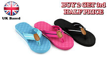 LADIES WOMENS GIRLS BEACH FLIP FLOPS V SHAPE FLIPFLOPS SANDALS SHOES SIZE LIGHT