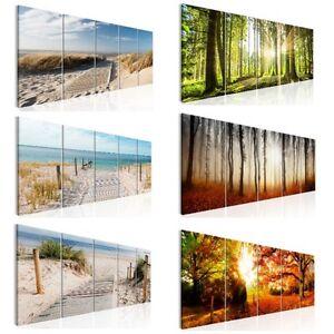 LEINWAND BILDER Wald Strand Meer Landschaft Natur WANDBILD XL Wohnzimmer 12Motiv