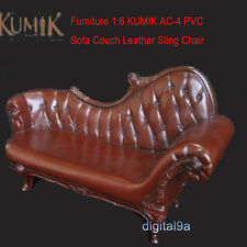 1: 6 KUMIK AC-4 PVC Sofa Fashion Sofa Leather ArmChair Model Toys