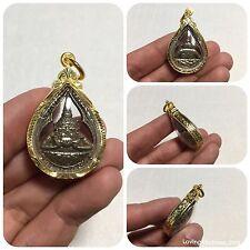 Phra Rahu Om Jan Thai Amulet Luck Rich Charm Attractive Protect Anti Black Magic