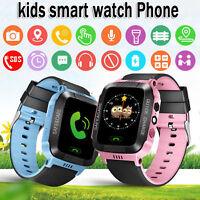 Enfants Smart GPS Montre Écran Tactile Smartwatch pour Filles Garçons Anti-Perdu