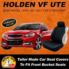 Canvas Car Seat Covers To Fit Holden Ute VF 2013 - Current Arbag Safe Black