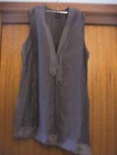 Black Apple Tunic Style Top ~ Size 16