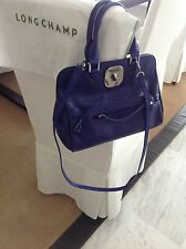 LONGCHAMP Purple Leather bag with Long Strap